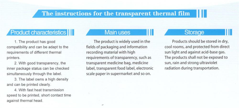 transparent thermal film